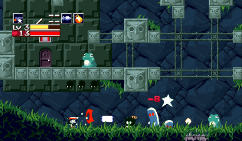 A screen shot of the Cave Story game