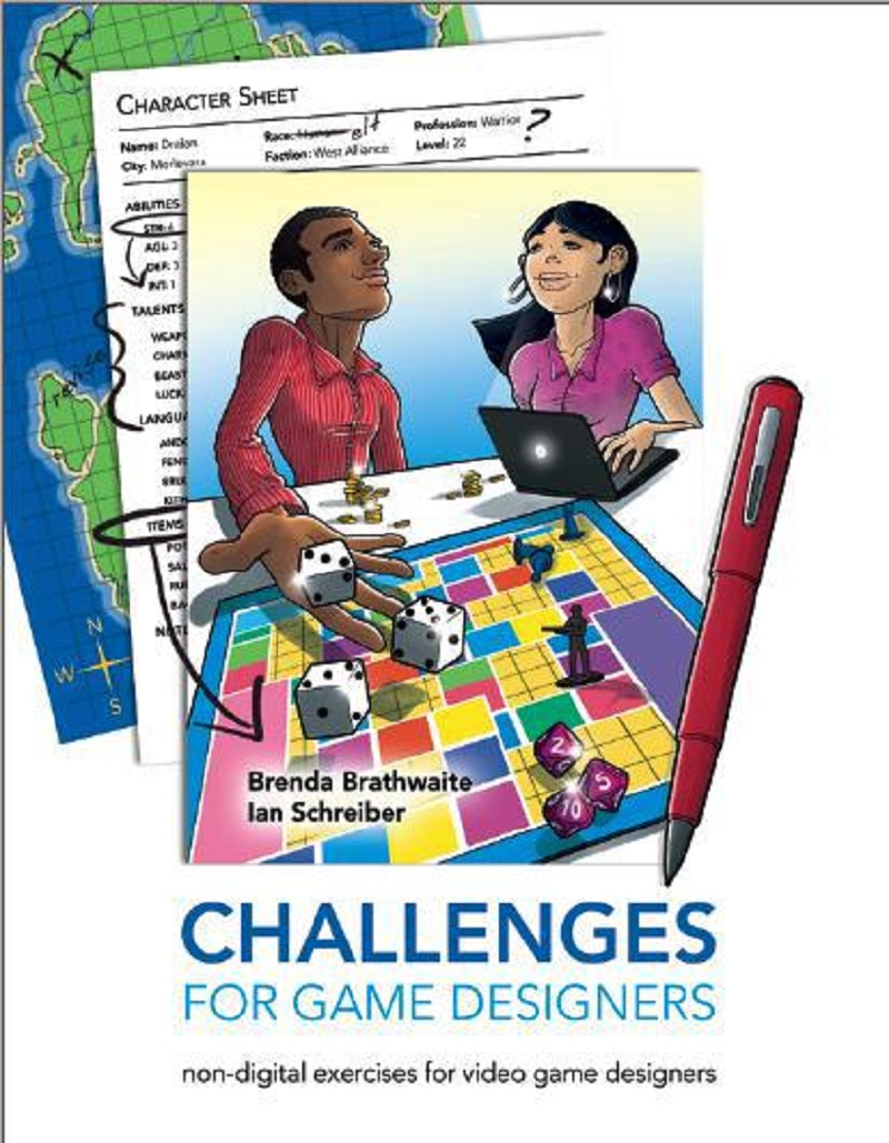 A book cover with people playing a game