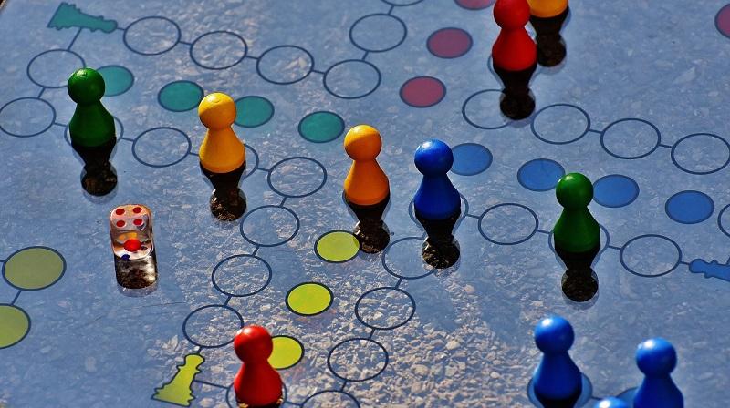 Circles and colorful dots